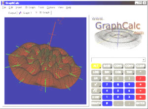 Image of GraphCalc, an online graphing calculator from http://www.graphcalc.com/